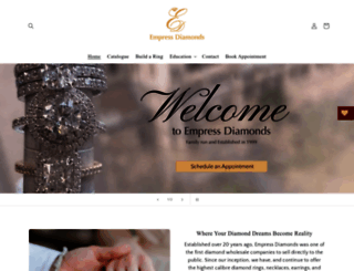 empressdiamonds.com.au screenshot