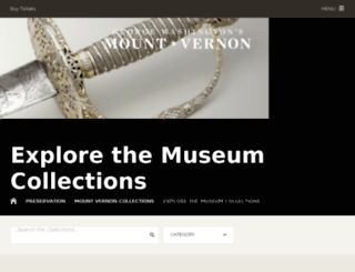 emuseum.mountvernon.org screenshot
