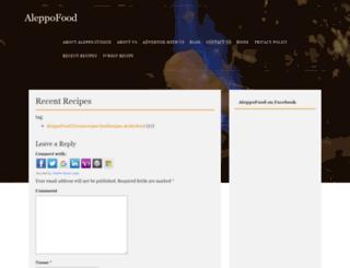 en.aleppofood.com screenshot