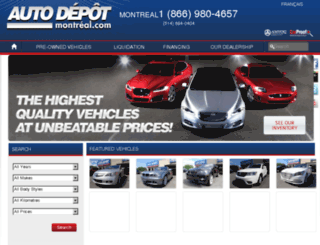 en.autodepotmontreal.com screenshot