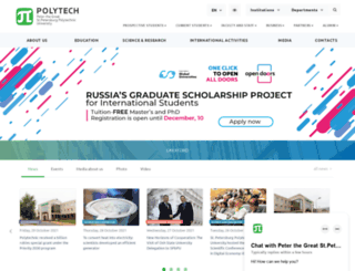en.spbstu.ru screenshot