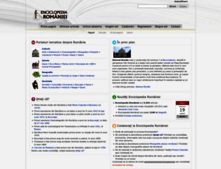 enciclopediaromaniei.ro screenshot