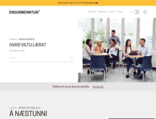 endurmenntun.is screenshot