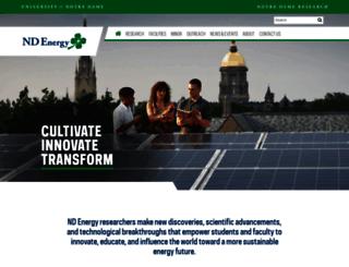 energy.nd.edu screenshot
