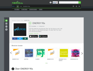 energy90s.radio.de screenshot