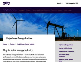 energyinstitute.tcu.edu screenshot