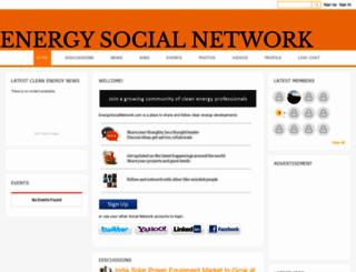 energysocialnetwork.com screenshot