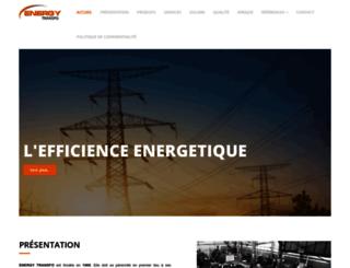 energytransfo.ma screenshot