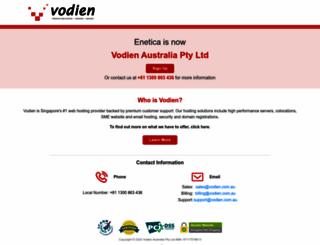 enetica.com.au screenshot