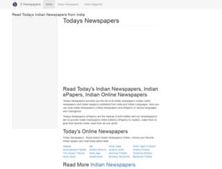 enewspapers.co.in screenshot