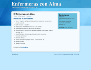 enfermerasconalma.com screenshot
