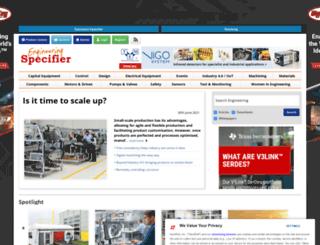 engineeringspecifier.com screenshot