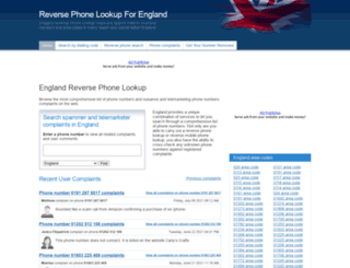 englandphonebook.co.uk screenshot