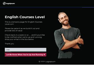 english-courses-level.com screenshot
