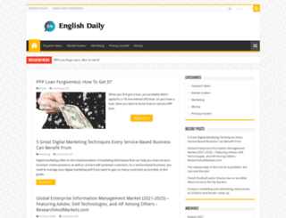 english-daily.com screenshot