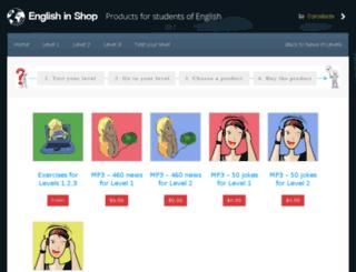 english-in-shop.com screenshot