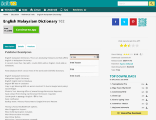 english-malayalam-dictionary.soft112.com screenshot