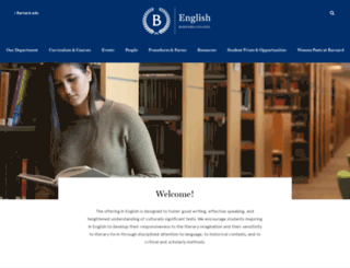 english.barnard.edu screenshot