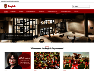 english.wisc.edu screenshot