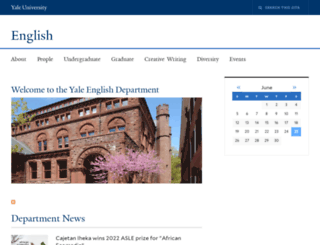 english.yale.edu screenshot