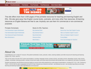 englishbanana.com screenshot