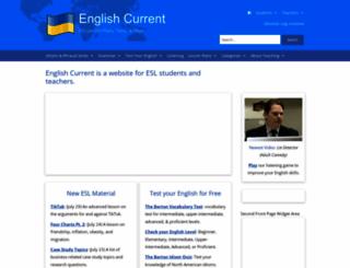 englishcurrent.com screenshot