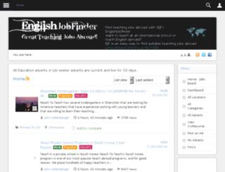 englishjobfinder.com screenshot