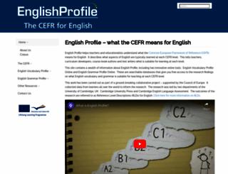 englishprofile.org screenshot