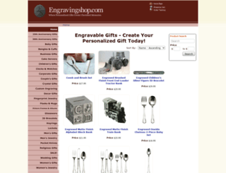 engravingshop.com screenshot