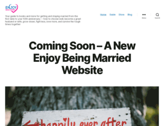 enjoybeingmarried.com screenshot