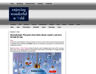 enjoyingwonderfulworld.blogspot.com screenshot