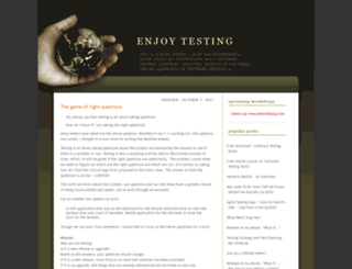 enjoytesting.blogspot.in screenshot