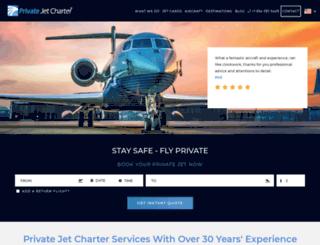 enquiries.privatejetcharter.com screenshot