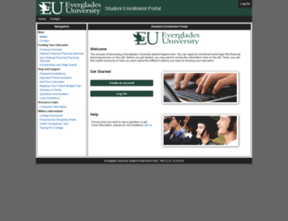 enroll.evergladesuniversity.edu screenshot