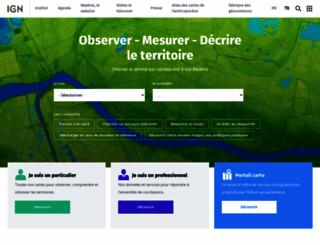 ensg.ign.fr screenshot