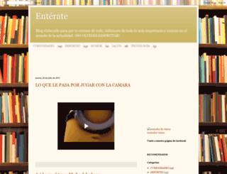 enteratedeloquesucede.blogspot.com screenshot