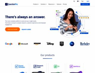 enterprise.questionpro.com screenshot