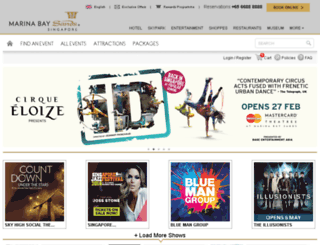 entertainment.marinabaysands.com screenshot