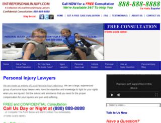 entirepersonalinjury.com screenshot