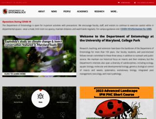 entomology.umd.edu screenshot