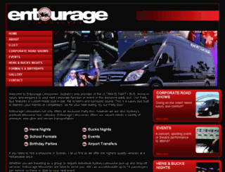 entouragelimousines.com.au screenshot