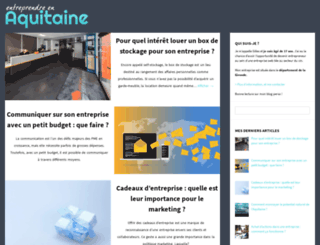 entreprendreenaquitaine.fr screenshot