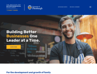 entrepreneur.pitt.edu screenshot
