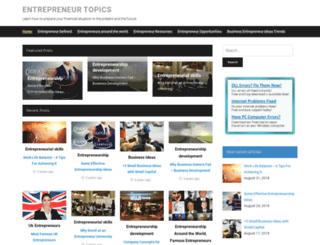 entrepreneurtopics.com screenshot