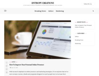 entropycreations.com screenshot