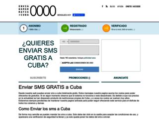 enviarsmsgratisacuba.com screenshot