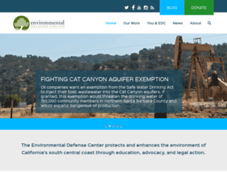 environmentaldefensecenter.org screenshot