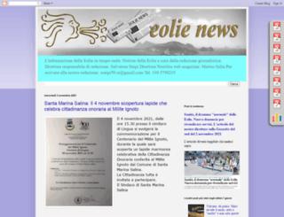 eolienews.blogspot.it screenshot