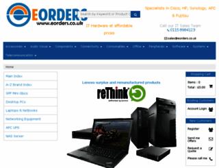 eorders.co.uk screenshot