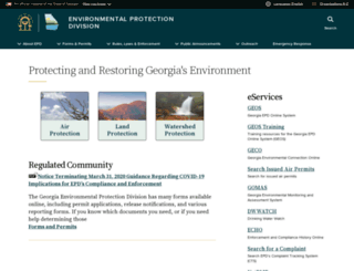 epd.georgia.gov screenshot